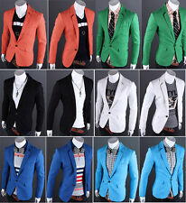 FASHION NEW Mens Classic One Button Placket Blazer Suit Coat Jacket Male Outwear