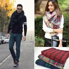 Damen Herren Winter Schal Warm Hals Stola Tartan Weich Plaid Pashmina Fashion