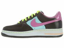 Nike Girls Air Force 1 (GS) Sneakers-Black/Red Violet/Glcr Ic
