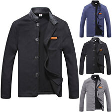 New Fashion Casual Stand Collar Long Sleeve Men's Hoody Coat Jacket Outerwear