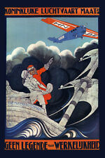 Airplane Plane Flying Dutchman Netherlands Travel Vintage Poster Repro FREE S/H