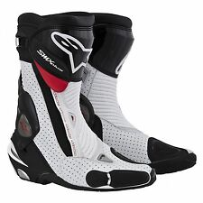 Alpinestars SMX Plus Boot Black/White/Red Vented ALL SIZES