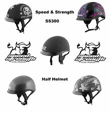 Speed and Strength SS300 Half Helmet Harley Davidson Cruiser Chopper Bobber
