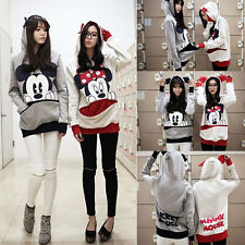 Cute Girls Womens Mickey Minnie Mouse Ear Emo Sweater Shirt Jumper Hoodie Casual