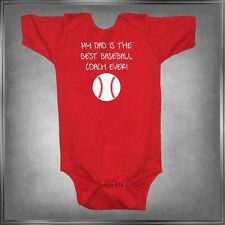 My Dad is The Best Baseball Coach Infant One-Piece - Youth T-Shirt 6mos-18/20Y
