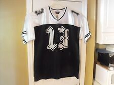 BLACK, WHITE & GRAY 3 TONE 13  LOW RIDER, CHOLO, CHICANO, SOUTH SIDE  JERSEY.