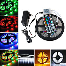 New 5M 3528 RGB 300 Led SMD Flexible Light Strip+24/44key IR+12V 2A Power Supply