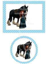 Merida and Angus Brave Edible Cake Image Cupcake Topper Birthday Party Favor