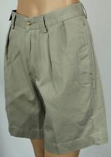 "Polo Ralph Lauren Beige Classic Fit 9"" Pleated Chino Shorts NWT"