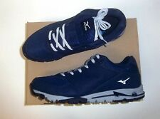 Mizuno Compete Turf Men's Baseball Turf Shoes NIB Navy/Grey Size 10.5
