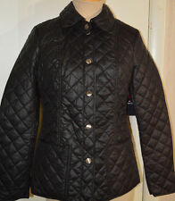 Women's St. John's Bay Black Lightweight Everyday Quilted Coat Jacket Sizes S, M