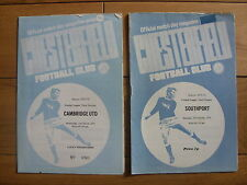 Chesterfield v Southport - Division 3 - 27/10/1973