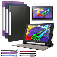 "Slim Leather Folio Skin Case Cover Accessory For 13.3"" Lenovo Yoga Tablet 2 Pro"