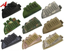 NEW Tactical Military Hunting Rifle Shotgun Stock Ammo Pouch Holder w/ Cheek Pad