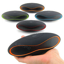 X-6 QFX Wireless Mini Bluetooth Speaker Stereo TF With Mic For iPhone 6 Samsung