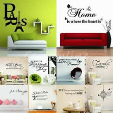 Art Kitchen DIY Removable Vinyl Words Quote Wall Stickers Decal Mural Home Decor