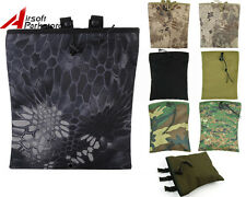Tactical Military Airsoft Hunting Molle Camo Magazine Ammo Dump Drop Pouch Bag