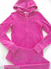 Juicy Couture J Bling Tracksuit Hoodie Pocket Pants Velour Track Glamour Pink