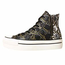 Converse Chuck Taylor All Star Platform Zip Snake Skin Womens Casual Shoes