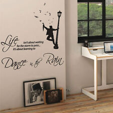 Dance in the Rain Music Art Wall Quote Stickers Wall Decals Words Letterings