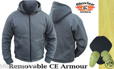 MOTORCYCLE HOODIE FULLY REINFORCED WITH DuPont™ KEVLAR® ARAMID FIBRE GREY XLARGE