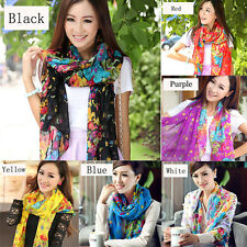 Stylish Warm Soft Women Ladies Voile Scarf Chiffon Neck Wrap Shawl Stole 7 Color