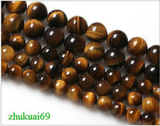 4mm 6mm 8mm 10mm 12mm Natural African Roar Tiger's Eye Stone Round Loose Beads