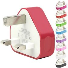 CE COLOURED USB 3 PIN WALL MAINS PLUG CHARGER FUNCTIONS WITH NOKIA LUMIA 620