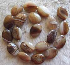 15x20mm 22x30mm Brown Brand Agate Oval Loose Beads Jewelry Stone Strand 15.5""