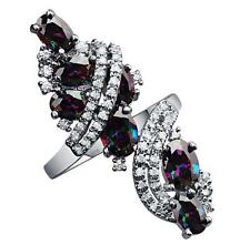 FABULOUS Rainbow Multicolor Topaz Gemstones Silver Rings US#Size5 6 7 8 9 B5505