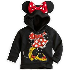 Funny Kids Girls Boys Mickey Minnie Mouse Hooded Shirts Sweater Hoodies 1-6Y wn#
