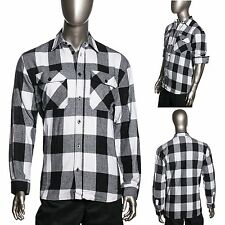 HG Mens Brawny Buffalo Plaid Flannel Shirt Long Sleeve Heavyweight