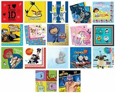 16 PARTY NAPKINS - Range of LICENSED CHARACTER DESIGNS (Birthday Supplies){Set1}