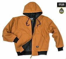 ToughGuard Men's Quilt Lined Insulated Water Repellent Duck Hooded Jacket