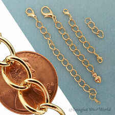Custom large GOLD Finished/Tone Extender Chain for heavy jewelry (+ adjustable)