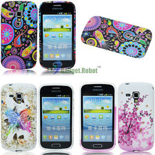 FOR Samsung Galaxy S Trend Duos S7562 colorful flower Gel/TPU Case/COVER