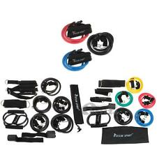 Set 9pcs Resistance Bands Elastic Exercise Set Fitness Tube Yoga Workout Pilates
