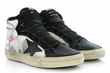 Shoes GOLDEN GOOSE Mens 2.12 Hi-Top Sneakers G25U599.C3 Playground Canvas GGDB