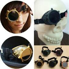 Vintage Victorian Steampunk Goggles Cyclops Glasses Welding Cyber Punk Cosplay