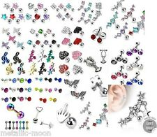 Tragus Bars Helix Bar Crystal Earring Bars Ear Cartilage Body Piercing Jewellery