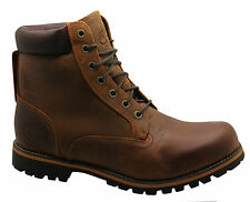Timberland Rugged 6 Inch Mens Boots Leather Brown Casual Lace Up (74134 D1)