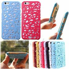 Solid Color Slim Hollow Bird Nest Back Case Cover Skin For Apple iPhone 5 5S 6