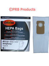HEPA Type B Allergy Upright Vacuum Bag Fits Riccar 7000 8000 Simplicity 7 Series