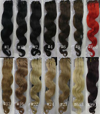 "AAA+ 18""-26"" Remy Human Hair Weft Weaving Extensions Body Deep 100g Width 59"" UK"