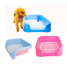 New Indoor Outdoor Pet Dog Puppy Potty Training Fence Tray Pad Pee Toilet S M L