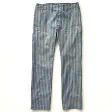 POLO RALPH LAUREN DOUBLE RL RRL 1940s BRITISH BLUE STRIPED OFFICER CHINOS $340+