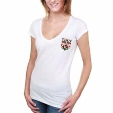 Arizona State Sun Devils Women's White Aztec Pocket V-Neck T-Shirt