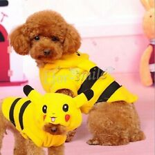 Pet Clothes Dog Pikachu Cute Yellow Sweater Hoodie 5 Sizes for Choosing Cat Coat