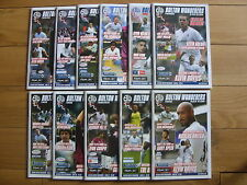 Bolton Wanderers Home Football Programmes 2006/2007 Season