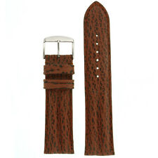 Watch Band Genuine Shark Skin Brown Double Padded